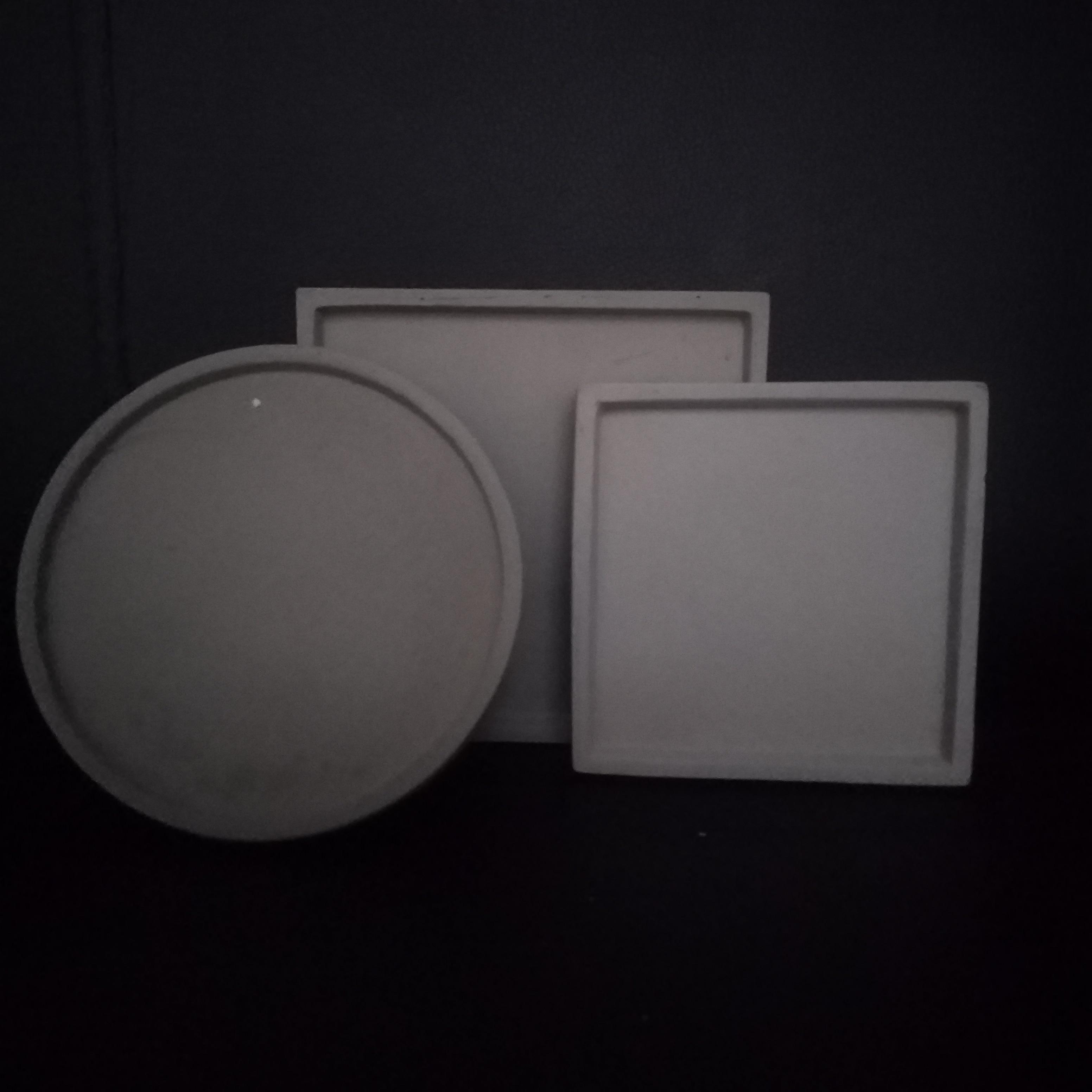 Runde Platz blume topf halter beton blumentopf fach formen silikon material für zement gips ton topf halten form