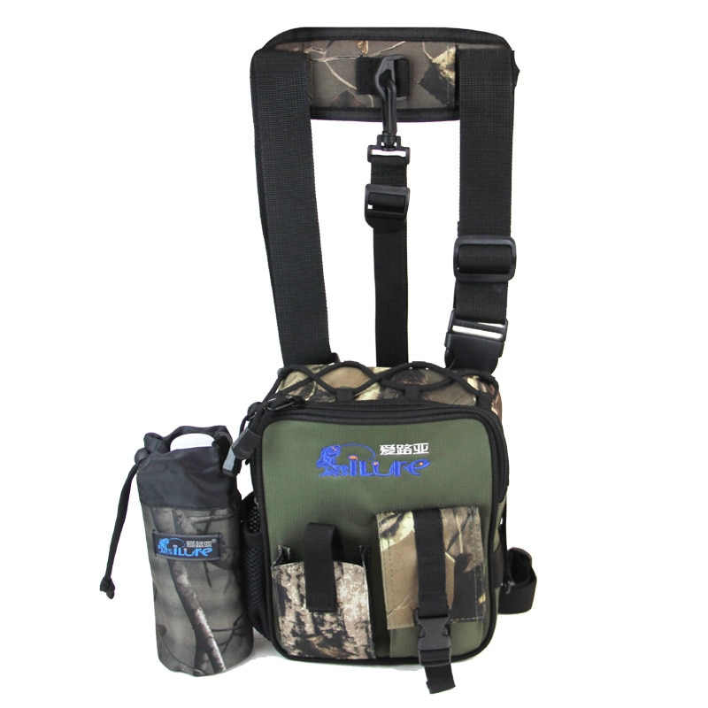 Bolsa de pesca multifuncional, bolsa de cintura para sujetar cebo de pesca, alicate, caja de aparejos de pesca, bolsa de pesca de uso multiuso