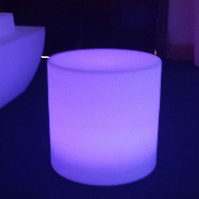 Cubo cilíndrico recargable, asiento Led, cubo resplandeciente Led, con Led Grden taburete de Bar, silla de exterior, envío gratis, 4 unidades por lote
