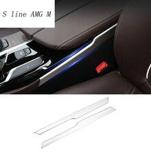 Auto Styling Versnellingspook Panel Decoratieve Strip Auto Covers Stickers Trim Voor Bmw 5 Serie G30 G38 2018 Interieur Auto accessoires