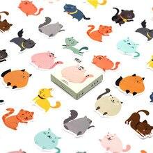 40 Pcs Mooie Mollige Katten Sticker Dier Leuke Decals Stickers Geschenken Voor Kinderen Om Laptop Koffer Gitaar Koelkast Fiets Auto