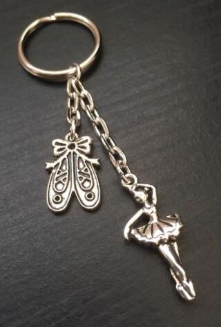 Zapatos de bailarina de plata Vintage, llavero para las llaves, llavero, llavero, llaveros, regalos, accesorios para manualidades
