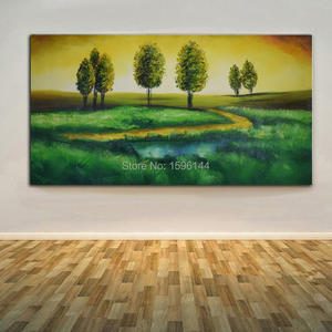 Hand Painted wall art picture Landscape Abstract oil painting on canvas Home decoration For Living Room 60x120cm