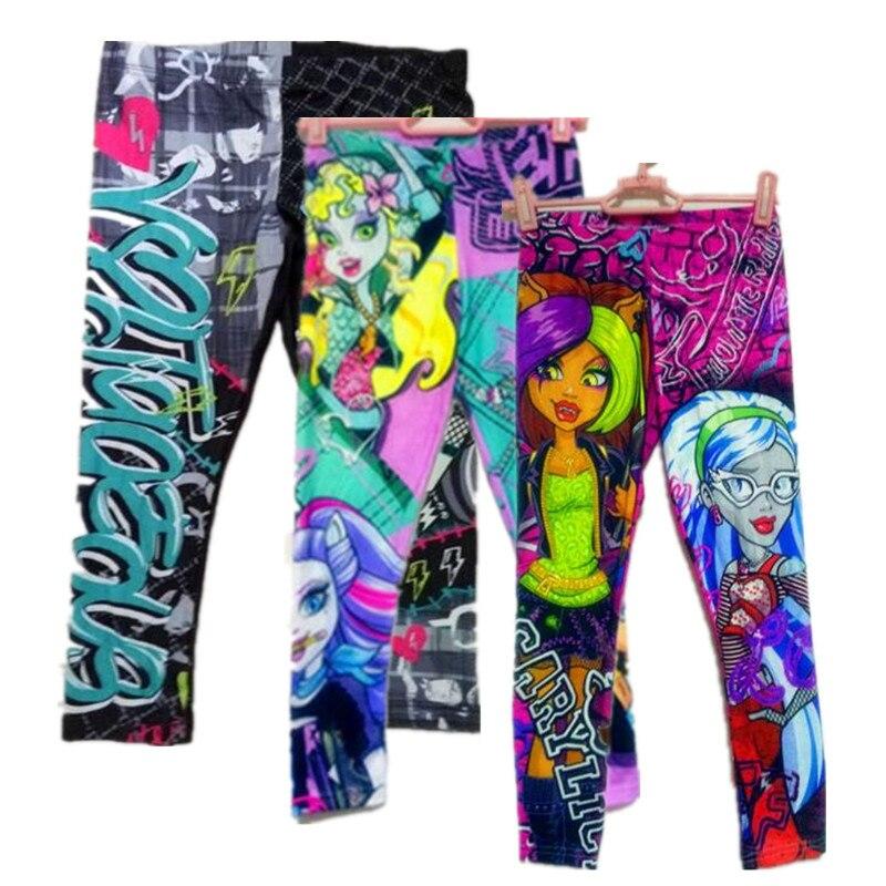 Hot Girl Monster Pants Girls Leggings Girls Pants ropa de niños pantalones ajustados calcetas ropa hermosa