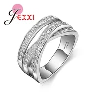 fashion rings for women party elegant luxury bridal jewelry 925 sterling silver luxury crystal wedding engagement ring