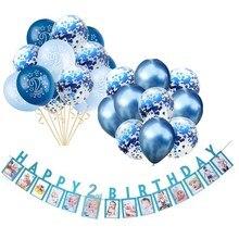 Ballon bleu pour décoration pour 2ème anniversaire   Ballons roses pour filles et 2 ans, ballons avec chiffres, fournitures pour fête danniversaire, pour enfants de 2 ans