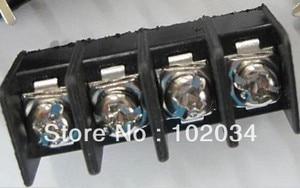 100PCS KF7.62-4P Black KF7.62 4Pin 7.62mm Straight Pin Barrier Terminal Block  ROHS