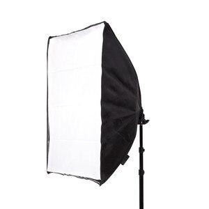 Image 3 - 50*70 см комплект освещения для фотосъемки 2 шт. 4 гнезда держатель лампы + 2 шт. софтбокса + 2 шт. 2 м осветительная стойка для внутреннего освещения фотостудии