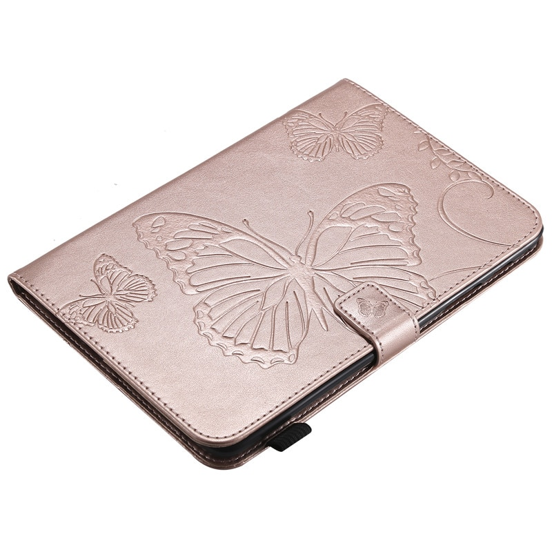 Купить с кэшбэком Wekays For Samsung Tab A 8.0 T355 Cartoon Butterfly Leather Fundas Case For Samsung Galaxy Tab A 8.0 T350 T355 Tablet Cover Case
