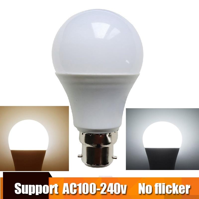 Real Power LED Bulb B22 LED Lampada Ampoule Bombilla 3W 6W 9W 12W 15W 18W 21W LED Lamp 220V 110V Cold/Warm White Led Spotlight