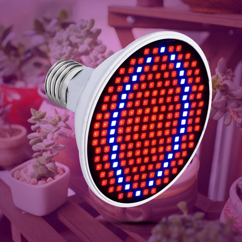 AC85-265V Светодиодная лампа для выращивания растений E27 Лампа 220 в полный спектр лампа 20 Вт 15 Вт 6 Вт для выращивания в помещении палатка коробка рассады 110 В Bombillas B22