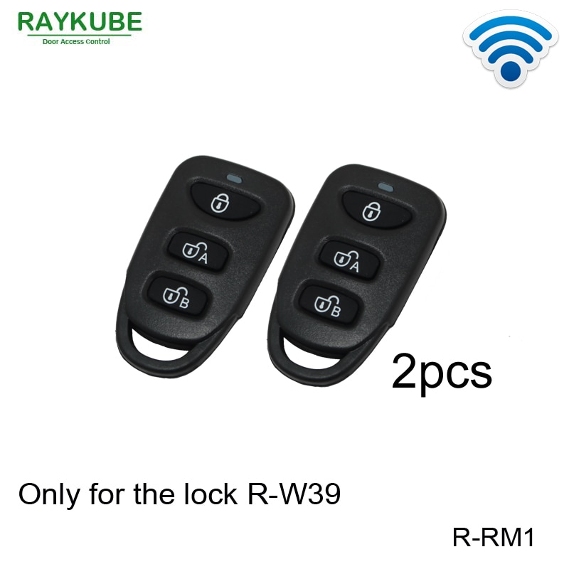 RAYKUBE R-RM1 2 قطعة/الوحدة اللاسلكية مفاتيح التحكم عن بعد تعمل فقط مع لدينا قفل R-W39