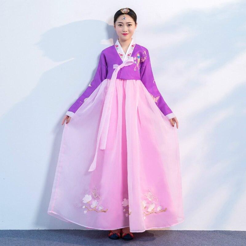 Disfraz de Hanbok coreano, Hanbok tradicional de palacio de boda para mujeres, trajes de danza minoritaria surcoreana Vintage, disfraz antiguo