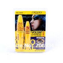 Mascara Volum Express 1set 2IN1  Waterproof The Colossal Long Lasting  Black 8222