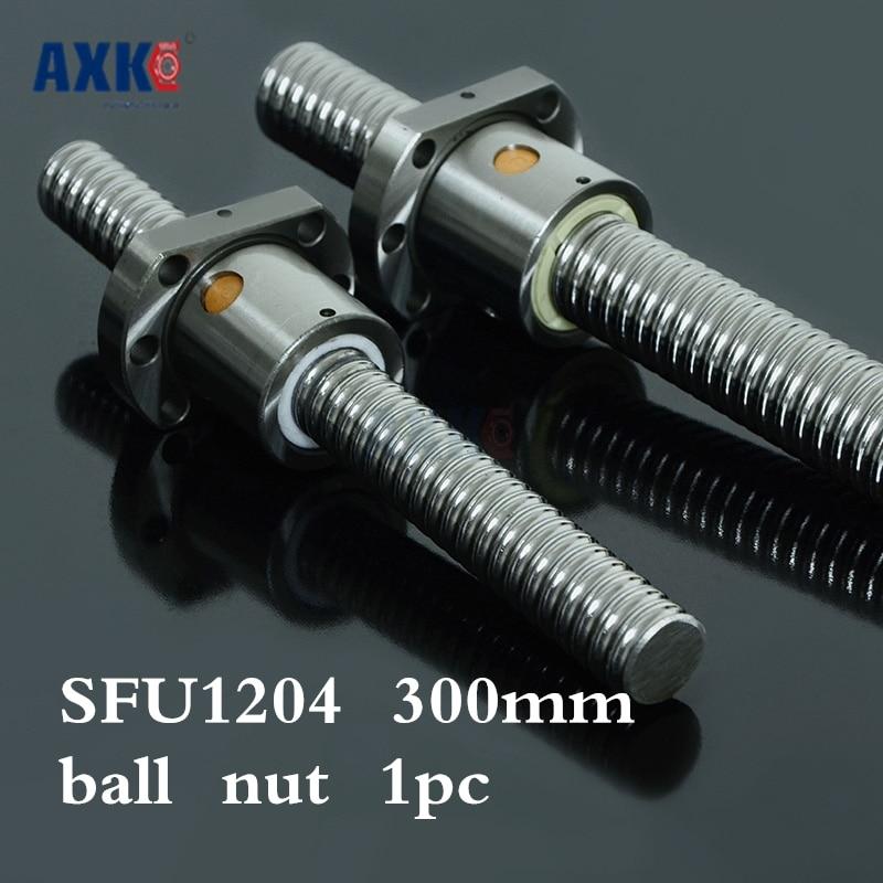 Axk 1204 Ball Screw Sfu1204 300mm Rolled Ballscrew With Single Ballnut For Cnc Parts