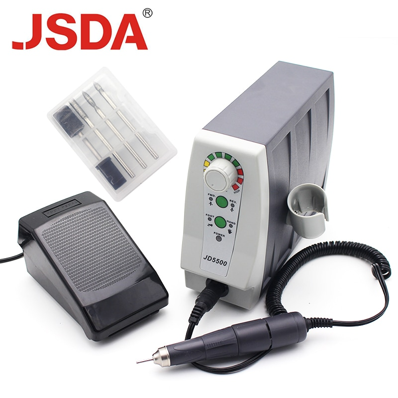 Real JSDA JD5500 85W 35000rpm Electric Advanced Nail Drills Professionals Pedicure Tool Manicure Mac