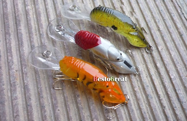 10PCS Fishing locust Lure insect Crankbaits Baits Hook 8g 9cm