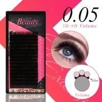 klacuva 16 rows semi permanent eyelash extensions mega volume lash extensions 0 05 lashes soft makeup individual eyelashes