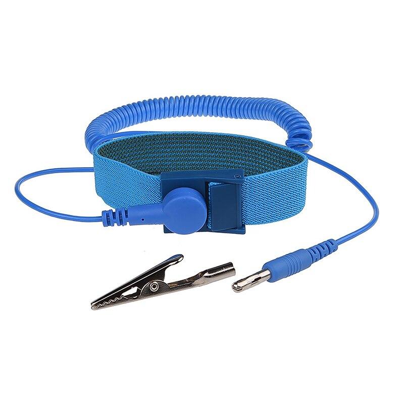 Marke Anti Static Discharge ESD-Armband Erdung Verhindern Statische Schock mit Clip für Empfindliche Elektronik Reparatur Arbeiten Werkzeuge