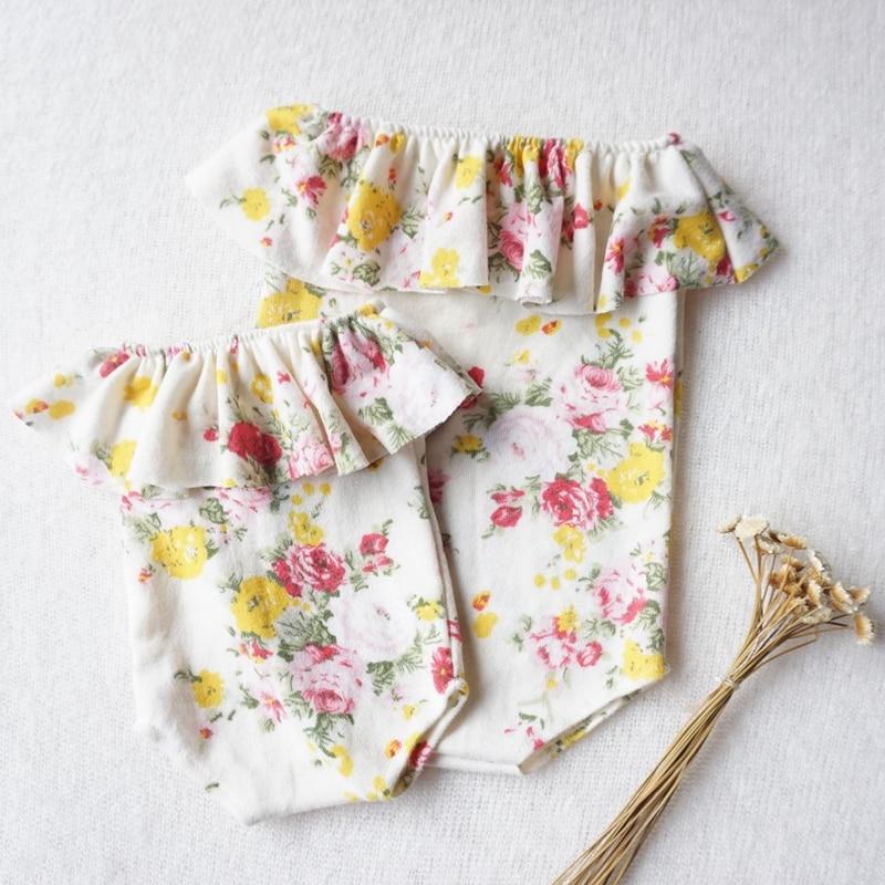 Ropa de bebé, peleles de fiesta para bebés, Pelele con volantes de flores para recién nacidos, pelele a la moda para niñas, accesorios de fotografía recién nacido, pelele