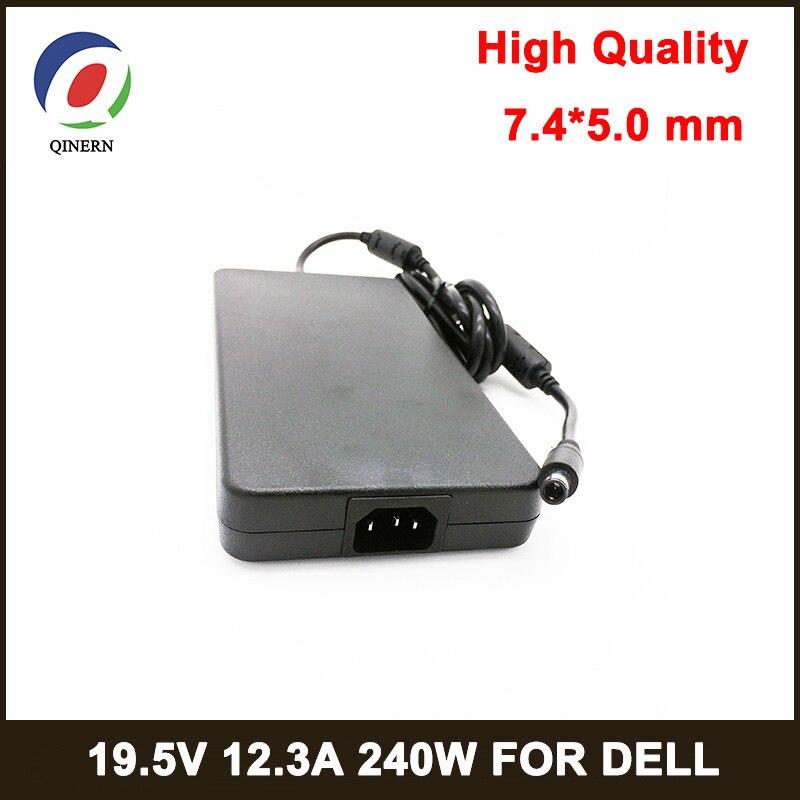 240W מחשב נייד אספקת חשמל 19.5V 12.3A 7.4*5.0mm 8PIN מחשב נייד מתאם עבור Dell alienware M6700 M4700 m6400 M6500 M6600 M15x מטען