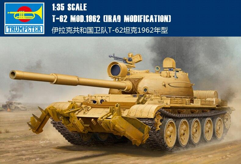 trompete 01547 135 da republica do iraque guarda t 62 tanque 1962 modelo de montagem
