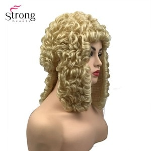 StrongBeauty Judge Wig British Barrister Female Lawyer Wig Hair Fancy Dress Costume Synthetic Fiber