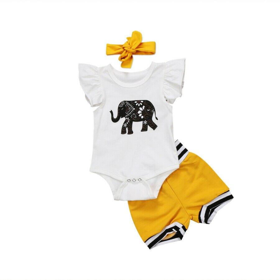 Conjunto de 3 uds. De Pelele de elefante para recién nacido