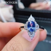 new 5a natural romantic sri lanka sapphire rhombic rings for women party 5x7mm genuine gemstones fine jewelry s925 silver 460