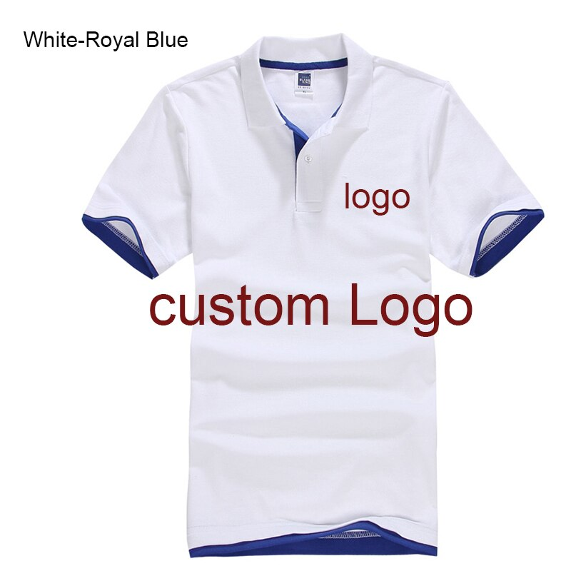 Custom Polo shirt Customized Printing Logo Service  company/hotel/Staff Unisex Short Sleeve Cotton Polos
