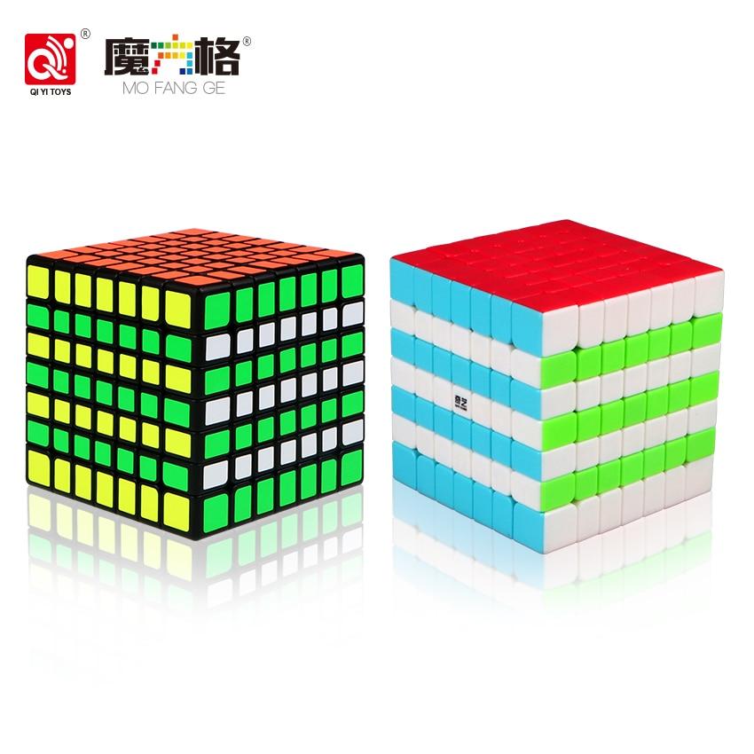 QIYI Qixing 2018 Cubo de velocidad mágica de 7 capas 7X7X7, bolsillo de 70mm, rompecabezas, juguetes educativos divertidos de aprendizaje profesional