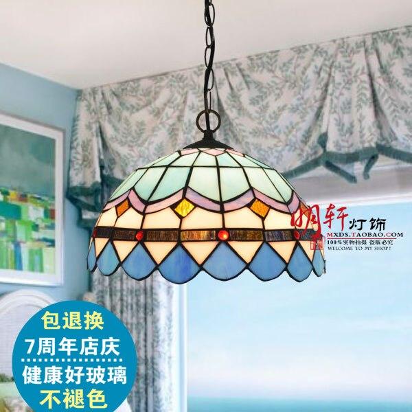 Coroa promocional tiffany lâmpadas de iluminação quarto lâmpadas moderno e minimalista sala estar lâmpada restaurante estilo mediterrâneo