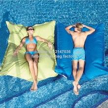 Büyük boy lüks rahat karşılamak iki yetişkin şamandıra beanbag, havuz yüzen fasulye torbası salonu yastık açık zevk