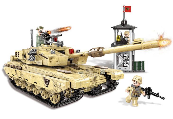 XINGBAO 06021 militar serie el 99 tanque modelo conjunto de bloques de construcción arma militar coche ladrillos juguetes regalo de cumpleaños para niños