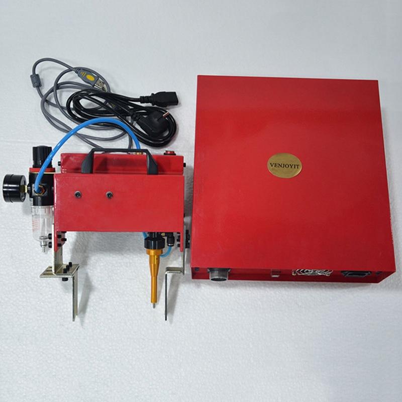 De Metal portátil Pneumática Dot Peen Máquina Da Marcação Para O Código VIN (100*20mm) quadro chassis número Máquina Da Marcação 220 V/110 V