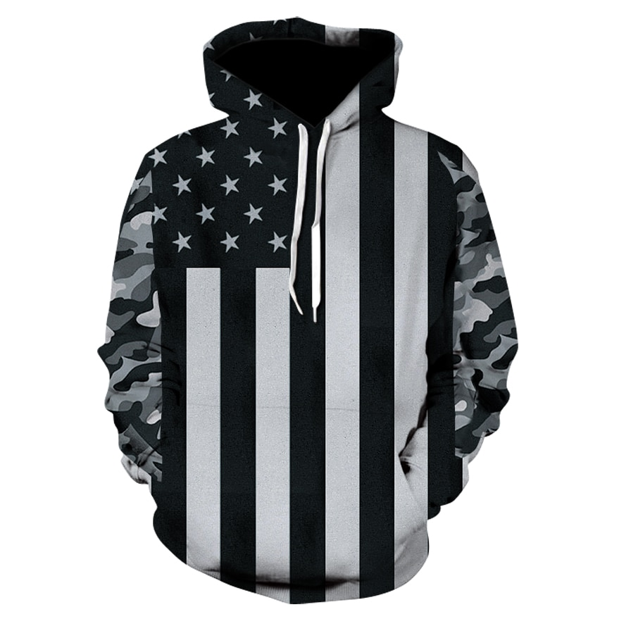 USA Flag Hoodies Men/women 3d Sweatshirts Print Striped Stars America Flag Hooded Hoodies Tracksuits Pullover