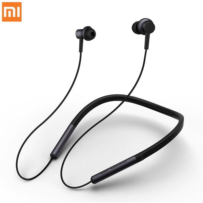 Fone de Ouvido Magnético com Microfone Original Xiaomi Colar Neckband Esportes Híbrido Duplo Driver Bluetooth 4.1 mi