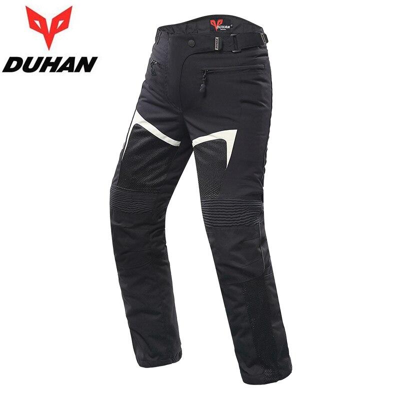 Pantalones de verano transpirables para hombre DUHAN moto rcycle moto cross con rodilla, pantalones de moto equipo ropa beige negro M L XL XXL