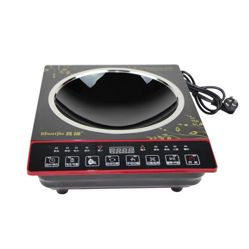 Alta potência 3000 w fogão de indução côncava casa explosão fogão indução sem fumaça toque cozinha panelas Z32-IH3202