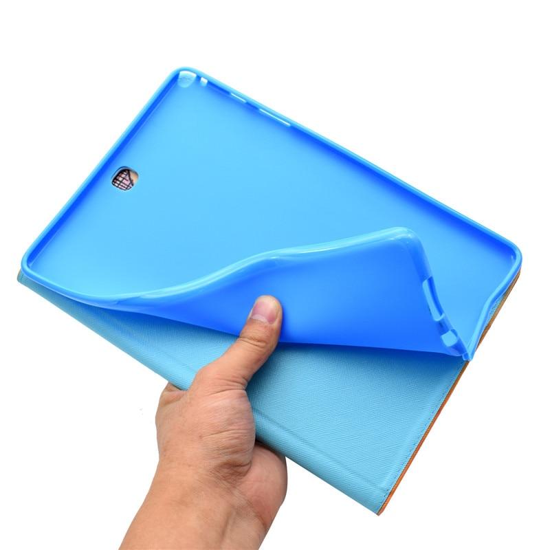 "Купить с кэшбэком Wekays For Samsung Tab A T550 Cartoon Unicorn Leather Stand Case sFor Samsung Galaxy Tab A 9.7"" T550 T551 T555 Tablet Cover Case"