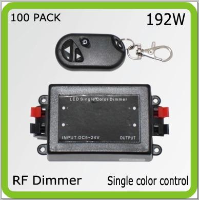 Venta al por mayor DC12V 24 V 192 W RF control remoto inalámbrico dimmer de un solo color para tiras led accesorios led cuerdas de radio requency tipo