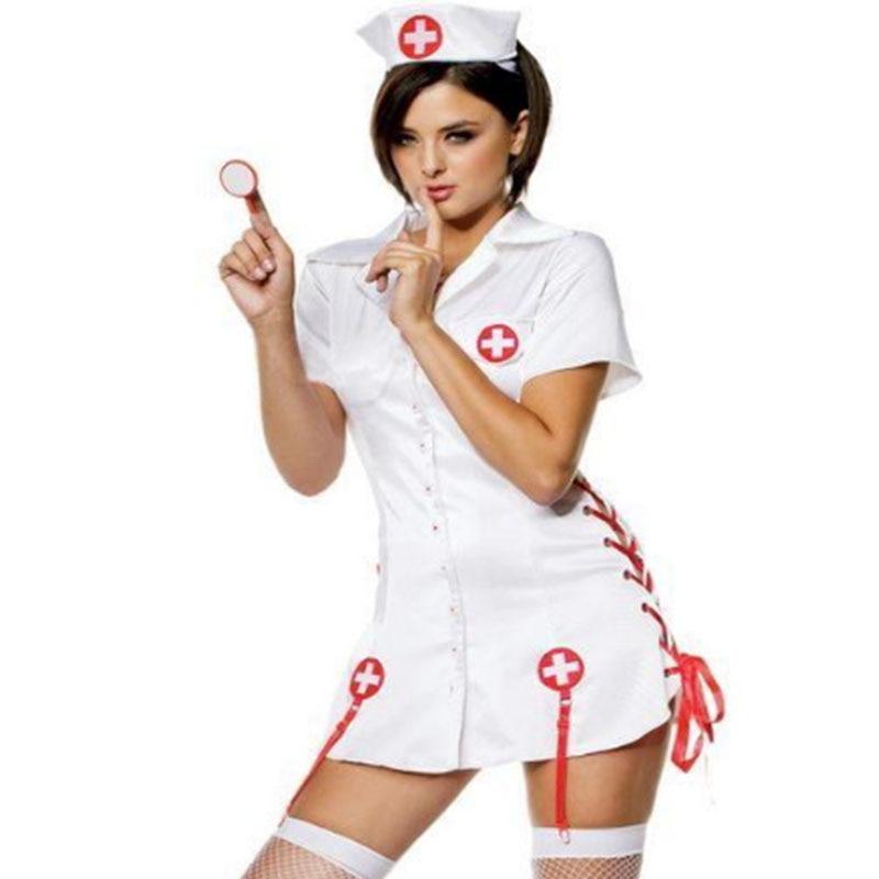 Disfraz Sexy de enfermera para mujer, traje erótico de enfermera, elegante, para dormitorio