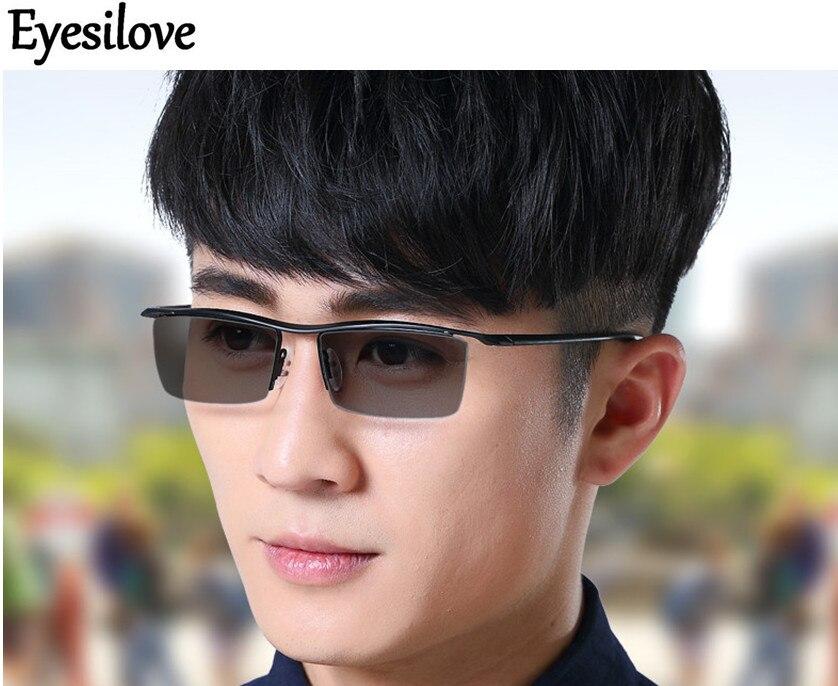 Eyesilove-نظارات فوتوكرومية فائقة الخفة لقصر النظر ، تيتانيوم ، مع عدسات حساسة ، 1.00 to -4.00