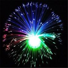 Multicolore Fiber optique lampe lumière vacances mariage pièce maîtresse Fiber optique LED chevet lumière nouveauté romantique cadeaux P15