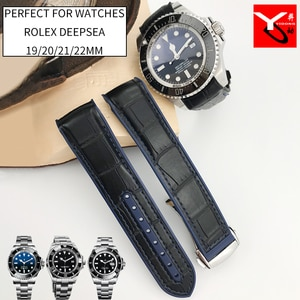 20mm 21mm Rubber Silicone Watch Strap With Nylon Watchband for Role Daytona Submariner DEEPSEA GMT SEAMARSTER 8900 Watch