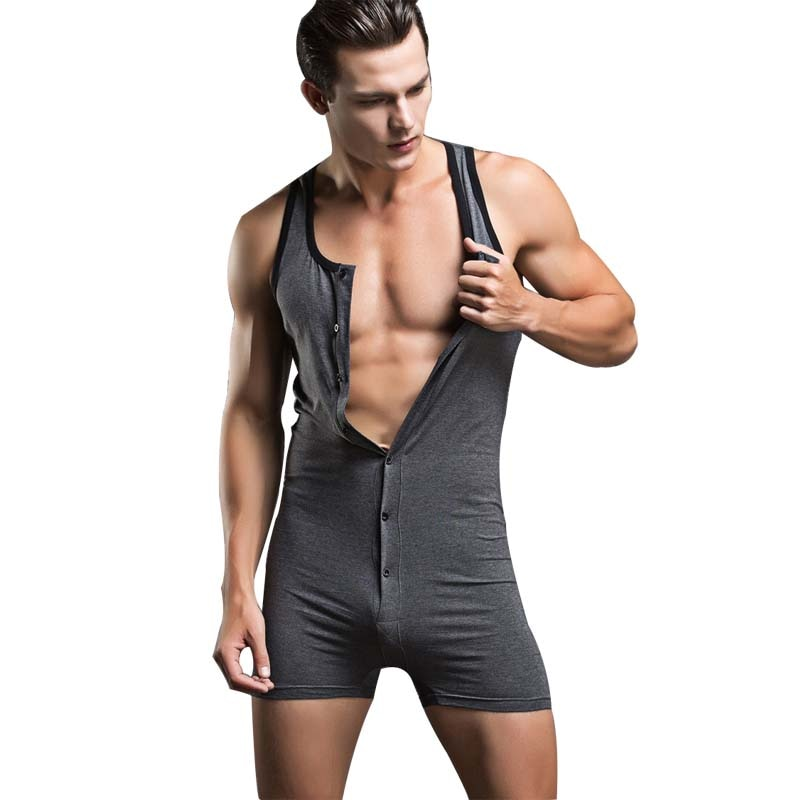 Marca Superbody, traje de lucha libre Sexy para hombre, traje de cuerpo para hombre Sexy, Top de culturismo, Top de tirantes de algodón, Top, lencería Sexy, gran oferta
