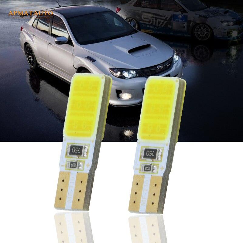 Par COB LED Lado Marcador Luzes Lâmpadas de Estacionamento Lâmpada Para Subaru Forester Impreza Legacy Outback XV