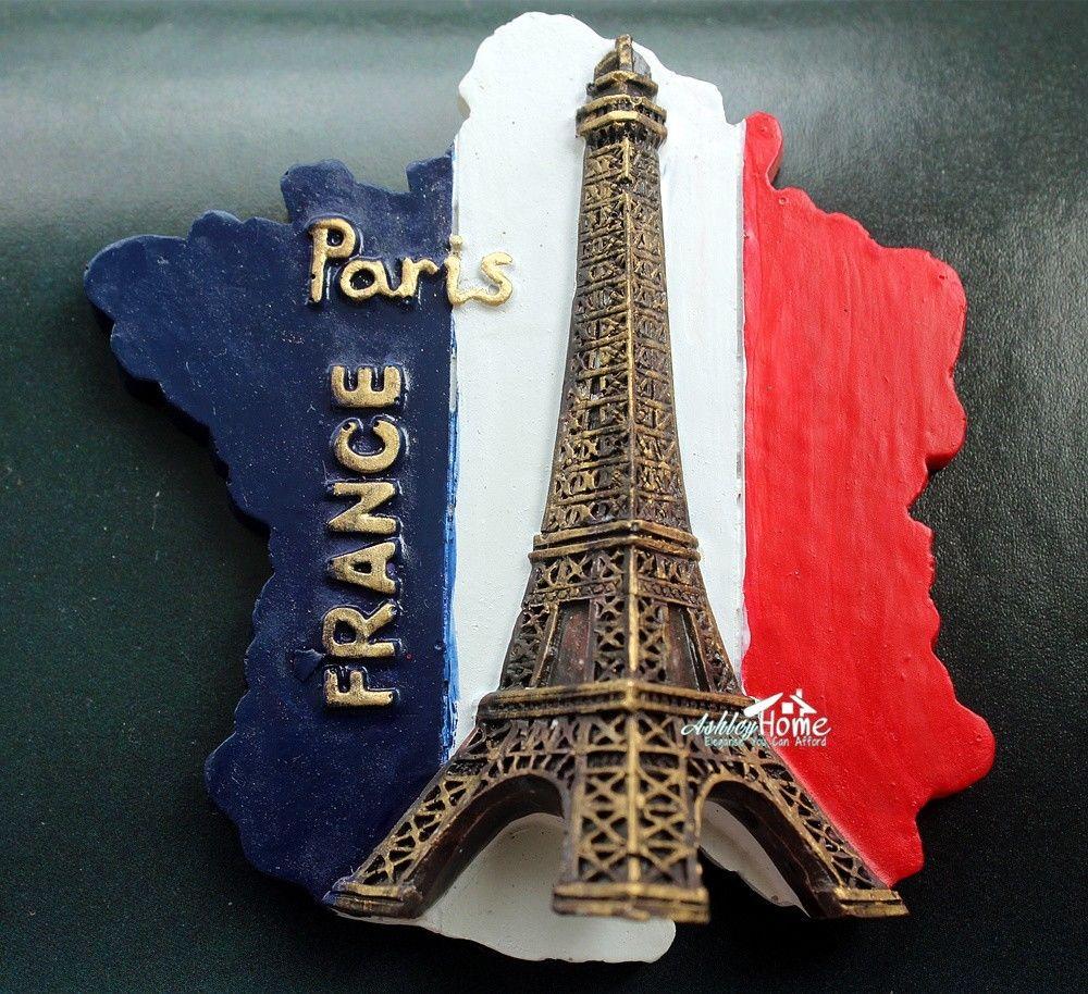 Francia Torre Eiffel recuerdo turístico, resina 3D imán decorativo de nevera, viajes por todo el mundo, IDEA de regalo