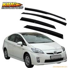 Déflecteur de vent pour Toyota Prius   Adapté pour 2010-2015 Toyota Prius fumé Aero JDM bâton sur les visses de fenêtre domestiques américaines, livraison gratuite