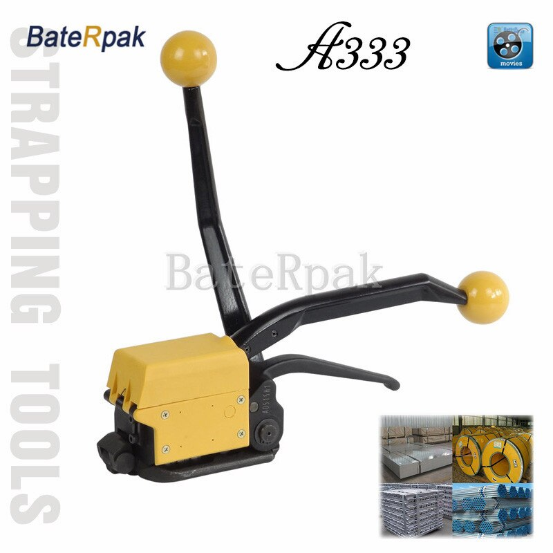 A333 BateRpak Steel strap Binding machine, high quality steel band strapping machine free buckle,suit for 13-19mm steel strap